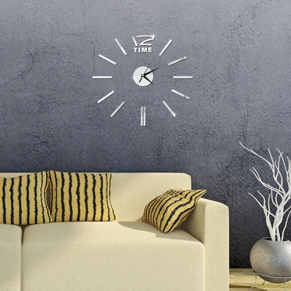 3D Wall Clock Mirror Wall Stickers Fashion Living Room Quartz Watch DIY Home Decoration Clocks Sticker reloj de pared 17