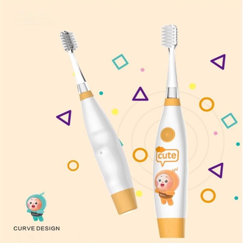 Kids Sonic Electric Toothbrush Teeth Whitening Vitality Toothbrush Non-Rechargeable Travel Brush Teeth Head with 2 Brush Heads image
