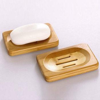 Kreatywny 1PC mydelniczka prysznicowa zestawy akcesoriów łazienkowych naturalny bambus drewno łazienka prysznic tacka na mydło uchwyt do przechowywania naczyń tanie i dobre opinie CN (pochodzenie) Drewna Soap Dish None Soap Dishes Soap drain rack piece 0 075kg (0 17lb ) 13cm x 8cm x 7cm (5 12in x 3 15in x 2 76in)
