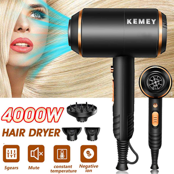 Hair Dryer for Hairdressing 4000W powerful hair dryer hot and cold wind negative ionic electric hair dryer styling tools professional salon hair dryer with negative ion blue hair dryer strong wind blower electric hair dryer hair styling tools