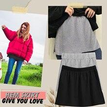 Base-Skirt Sweatshirt Female with All-Match Short In-The-Hem Minishortskirts -G