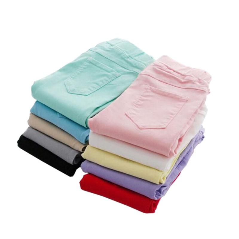 VEENIBEAR Spring Summer Girl Pants Candy Color Cotton Girl Leggings Children Kids Pants Slim Pencil Pants For Girl Age 3-9T 1