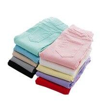VEENIBEAR/весенне-летние штаны для девочек яркие цвета, хлопковые леггинсы для девочки детские штаны узкие брюки-карандаш для девочек возрастом от От 3 до 9 лет