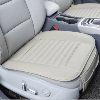 Car  Seat Cover Universal PU Leather Front Accessories Protector Four Season Covers Auto Dual-use Cushion funda asiento coche