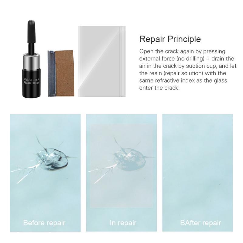 Car Glass Repair Fluid Automobile Windshield Glass Crack Repair Tool Kit Car Windscreen Repair Nano Repair Liquid Car Accessory