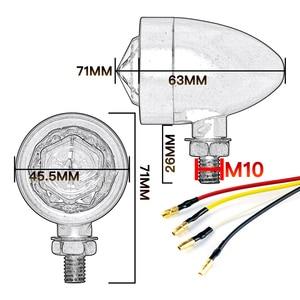 Image 5 - 1pair Motorcycle Turn Signal Indicator Lamp Light Retro Bullet Diamond Black LED Blinker Light for Moto Motorbike Motorcycle