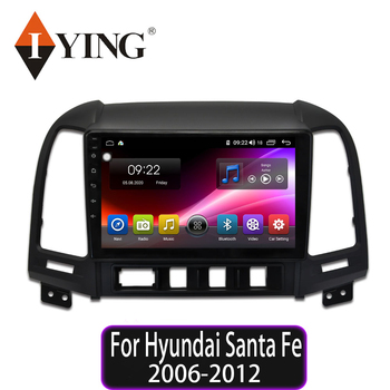 IYING Android 10.0 Car Radio GPS For Hyundai Santa Fe LHD 2006 2007 2008 2009 2010 2011 2012 multimedia Video Player Navigation image