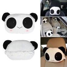 Seat-Cover Pillow Car-Accessories Neck Cushion Panda-Headrest Cartoon Cute