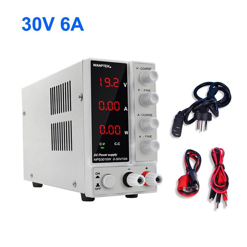 NPS306W laboratoire commutation alimentation Variable réglable unité cc banc Source stabilisateur de tension numérique 30V 6A pour téléphone PC