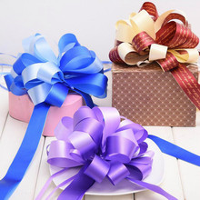 Wedding Decorations 5pcs Pull Bow Ribbons Baby Shower Happy Birthday Party Decor for Gift Packing DIY Car Decoration Pull Ribbon