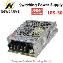 LRS-50 Original de Taiwán Meanwell 50W de potencia de conmutación de alimentación MW 3,3 V 5V 12V 15V 24V 36V 48V 48V NEWCARVE