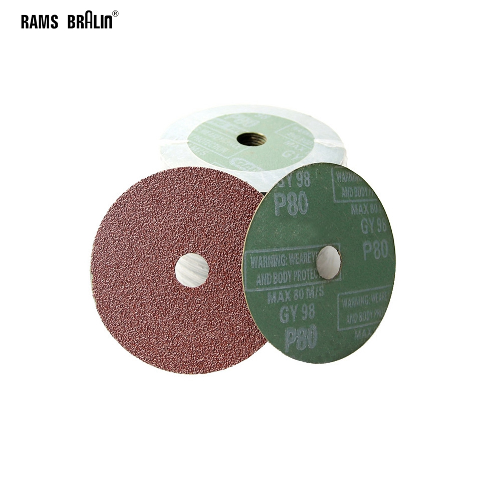 20 Pieces Hard Fiber Sandpaper Abrasive Sanding Disc For Wood Furniture Hardware Grinding