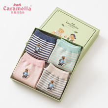Caramella 4Pairs Gift Box Set Women's Socks Lovely Cartoon T