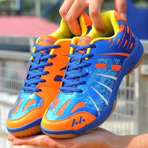 Sapatos de Badminton Tênis de Vôlei Tênis Homem Jogo Atlético Esporte Sapatos Casal Crianças Almofada Jogging