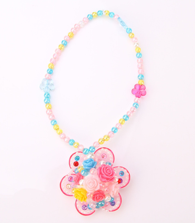 Kai Bay Workshop Children Handmade DIY GIRL'S Beaded Bracelet Florid Necklace Clay Colored Clay Educational Toy