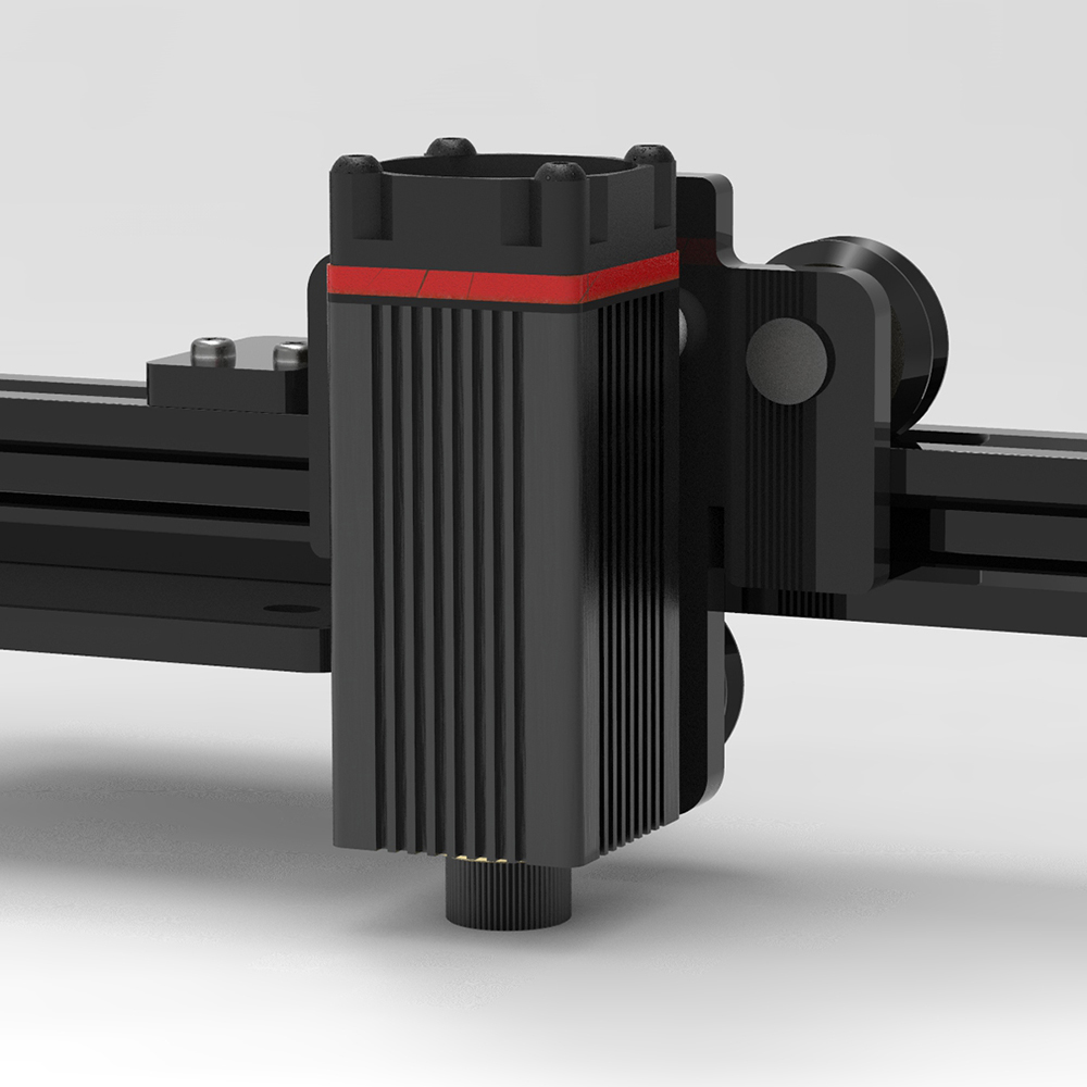 3500 mW/6000 mW/7000 mW/20 W 450nm professionnel lumière bleue tête Laser pour maître série bricolage Machine graveur accessoire noir