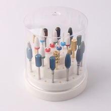 48 отверстий пустая коробка для хранения сверл дизайна ногтей