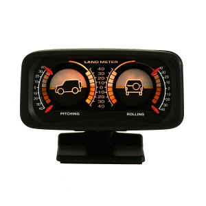 12V Car Angle Tilt Two-barreled Backlight Inclinometer For Compass Balance Level Slope Meter Gauge