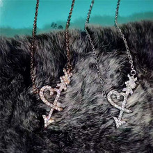 Woman Necklace The classical charm Love heart arrow Zircon Pendant accessories S925 Jewelry Valentine's Day gift