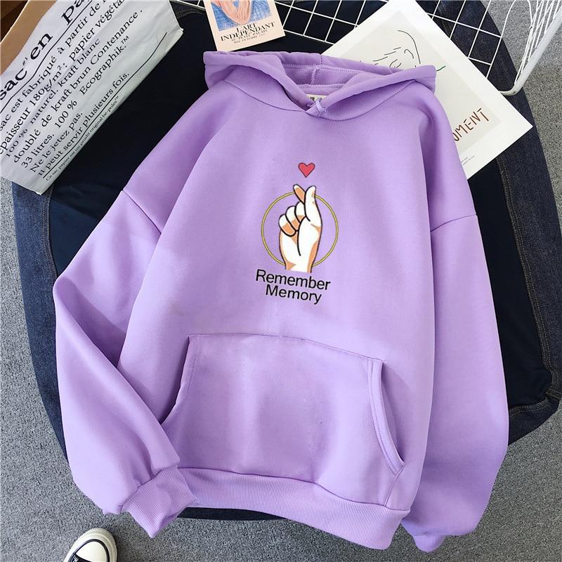 SEENIMOE Spring Hoodie Women Loose Korean Style Sweatshirt Autumn Streetwear Lovely Printing Hoodies Pullovers