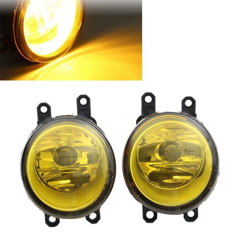 2 stuks Links + Rechts Mistlamp Lamp Geel Lens Auto Voorbumper Mistlamp H11 Lamp voor Om yota le xus IS-F Scion