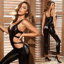 Latex Catsuit Costumes Clubwear Erotic-Leotard Catwomen-Wetlook Sexy Women Plus-Size
