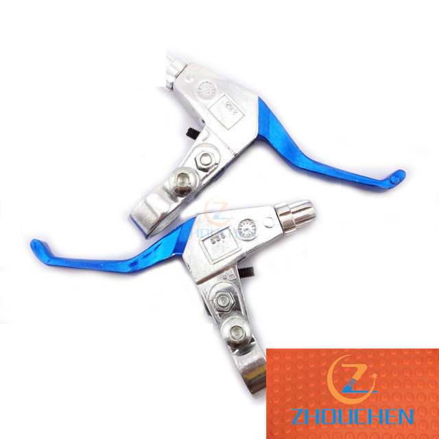 Right Left Blue Handle Brake Levers For 43cc 47cc 49cc Minimoto Pocket Dirt Bike