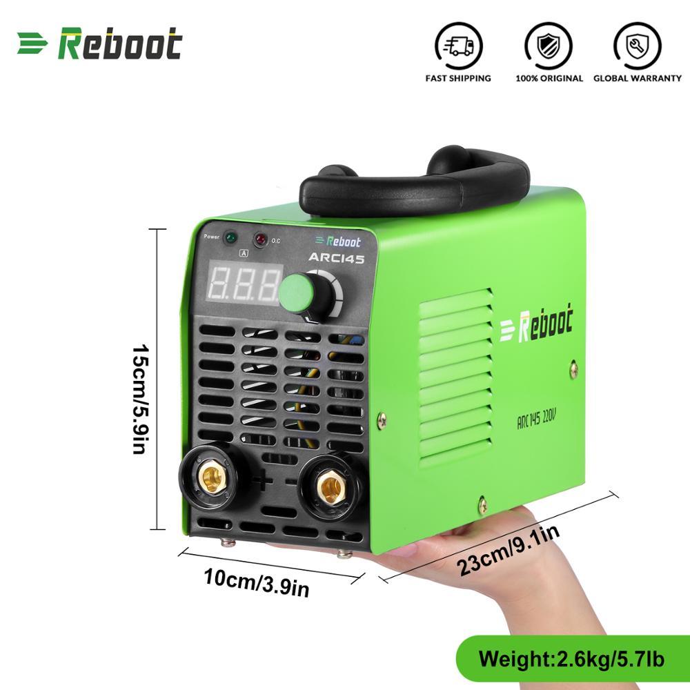 Restart Arc elektryczna spawarka 145A AC 220V MMA inwerter Stick spawacz Mini maszyna 1.6-3.2mm pręty spawanie przenośny spawacz