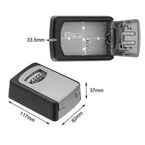 Image 5 - ウォールマウントキー金庫アルミ合金キー収納ボックス 4 桁コンビネーションパスワードボックス屋内屋外での使用