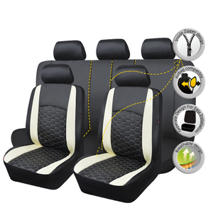 Image 3 - Delux PVC car seat covers set double laminated embroidery airbag compatible rear bench split 40/60 50/50 60/40 SUV