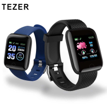 TEZER 116 Plus Smart Watches Men D13 Heart Rate Monitor Waterproof Fitness Tracker Pedometer Women Bracelet 116plus Wristband