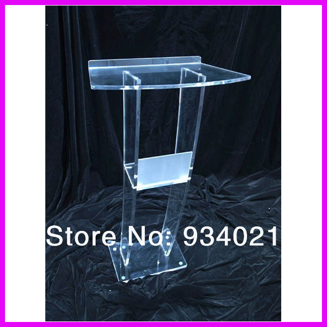 Eye-Catching Multifunction Clear Acrylic Podiums Smart Lectern