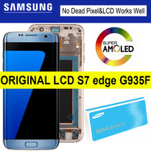 100% Original 5.5'' AMOLED LCD for SAMSUNG Galaxy S7 edge Display G935F SM-G935FD Touch Digitizer Assembly Replacement Parts