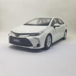 1:18 Diecast Model voor Toyota Corolla 2019 Wit Sedan Legering Speelgoed Auto Miniatuur Collectie Geschenken Hot Selling Altis