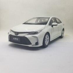 1:18 modelo de fundición para Toyota Corolla 2019 Sedán blanco aleación coche miniatura colección regalos Venta caliente Altis