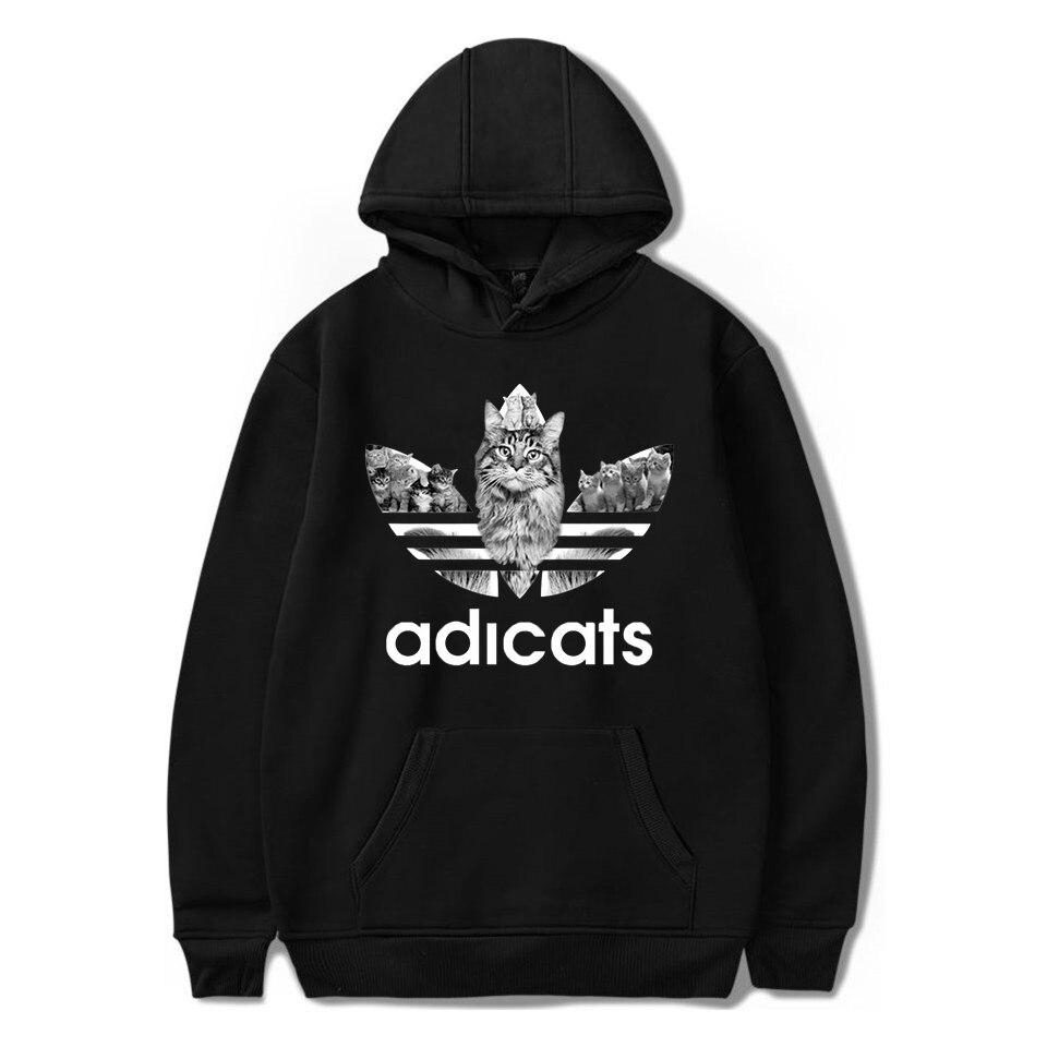 Winter Pullover Sweatshirts Women Funny Cat Hooded Hoodies Sweatshirt For Men Hoodie Hip Hop Streetwear Sweatshirt Bluzy Damskie