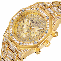 Luxury Brand New Men Watch Chronograph Sapphire Stainless Steel Yellow Gold Rose Silver Black Full Iced Diamonds Fashion Sport