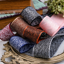 100yards 7 10 16 25 40mm double colors herring bone flax ribbon for bouquet flower packing bow kids hair accessories