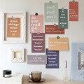 15 blätter Ins Text Serie Postkarte Kreative Chinesische Englisch Farbe Dekorative Karte Zimmer Hintergrund Diy Kollokation Wand Aufkleber