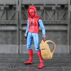 "Image 3 - Spider Homecoming 6"" Action Figure Holland Avenger Iron Man Ironman MK47 Mark47 KOs SHF Legends Toys Doll Model"
