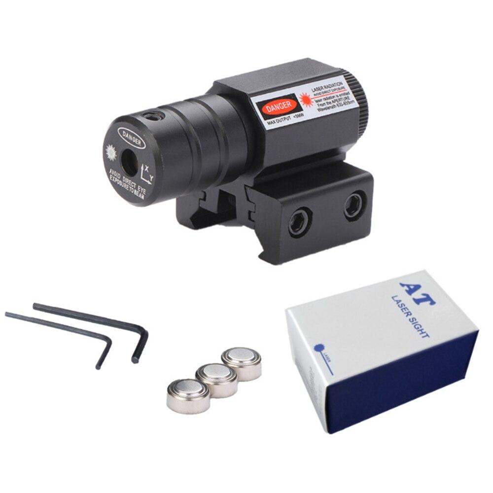 หลากหลายยุทธวิธี MINI Red Dot Laser Sight ขอบเขต Picatinny Mount สำหรับปืนไรเฟิลปืนยิง Airsoft RIFLE ขอบเขตการล่าสัตว์