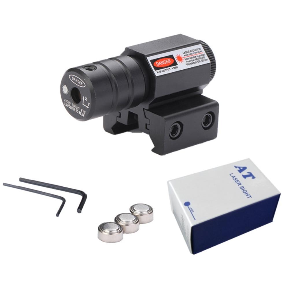 Berbagai Taktis Mini Merah Menghiasi Laser Sight Lingkup Picatinny Mount Set untuk Gun Senapan Pistol Shot Airsoft Senapan Berburu title=