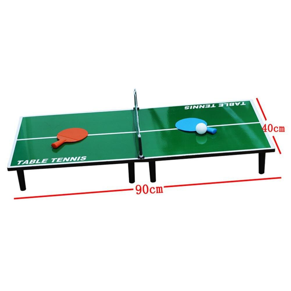 Мини-набор для настольного тенниса, складной деревянный стол для пинг-понга с 2 ракетками, портативная настольная игра для помещений, детская игрушка 3