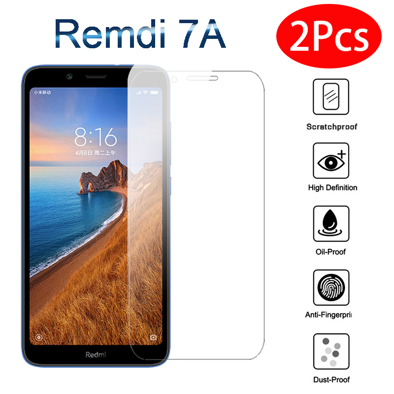 2Pcs/lot 9H Tempered Glass On For Xiaomi Redmi 7A Screen Protector On Redmi 7A Redmi7a Redmi7 A Red Mi7a Protective Display Glas