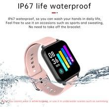 Bluetooth 5.0 Smart watch Men Full Touch Screen Custom Dials Smartwatch Women Blood Pressure Oxygen Heart Rate Monitor Watch