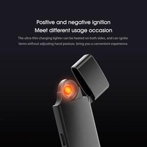 Image 4 - Beebest USB Lade Ultra dünne leichter Touch Schalter Elektronische Leichter Winddicht Flammenlose Elektronische Feuerzeuge Aufladen