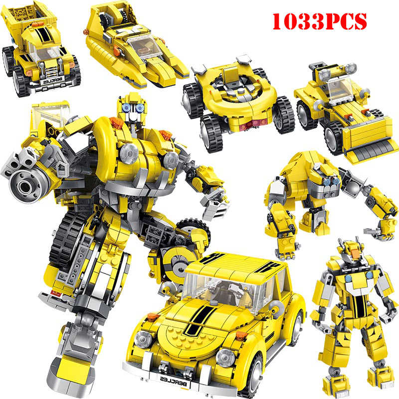 Technic Transformation Robot Optimus Bumble Car Building Blocks Compatible Legoed City War Bricks Education Birthday Gift Toys
