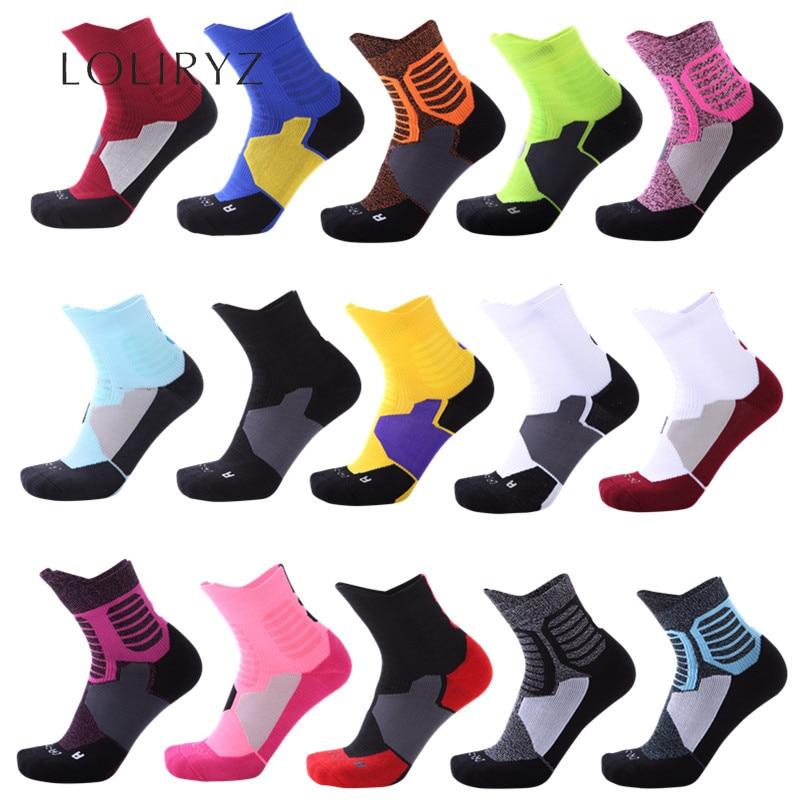 15 видов цветов супер элитные спортивные носки дышащие баскетбольные Носки для бега, пешего туризма, велоспорта, уличные спортивные носки дл...