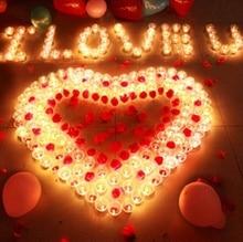 6pcs pocket Stylish Simulation Flameless No Smoke Candle Light atmosphere Proposal love Safe pray For Party Wedding Battery lamp