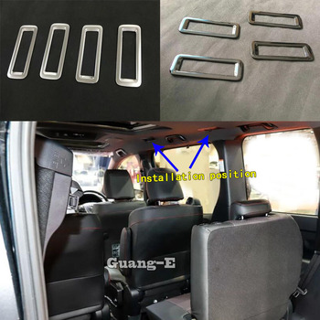 Car Sticker Cover Styling Rear Back Box Air Vent Outlet Trim 4pcs For Toyota Noah Voxy 80 Series 2014 2015 2016 2017 2018
